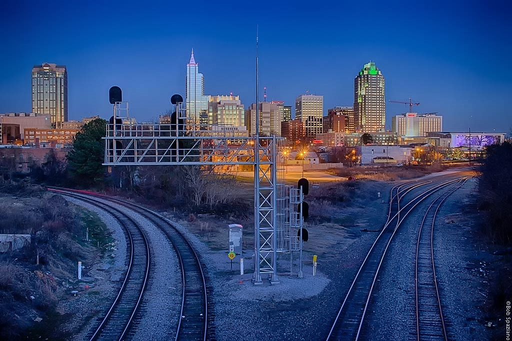 Raleigh after sunset